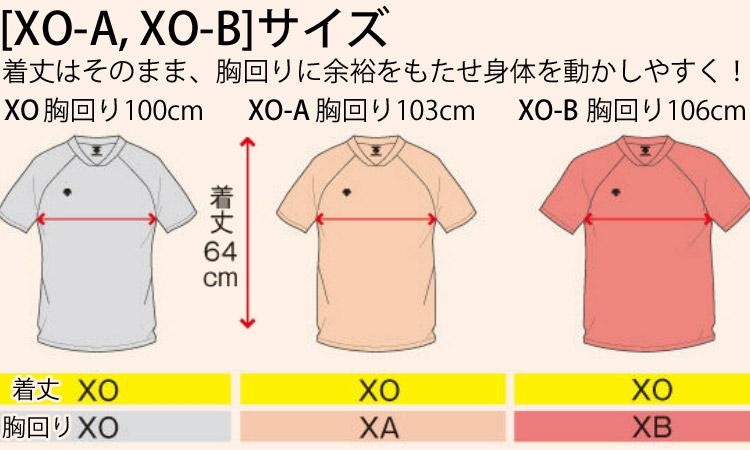 デサント[XO-A,XO-B]サイズについて